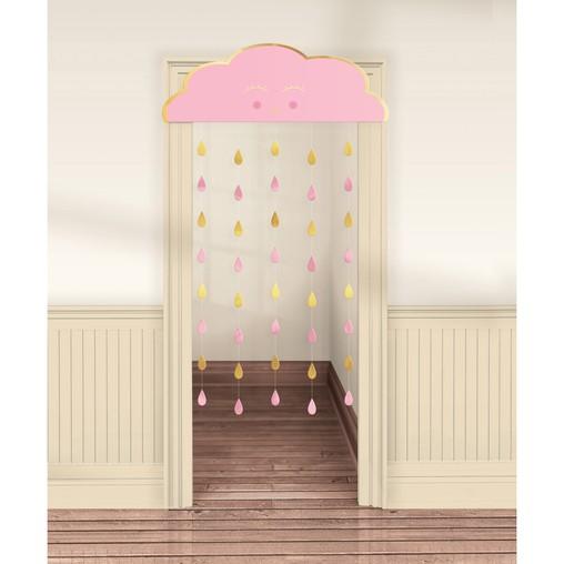 Závěsná dekorace Baby Girl papírová 190 cm x 96 cm