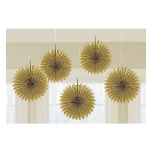 Závěsné dekorace zlaté 5 ks 15,2 cm