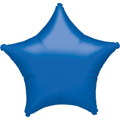 Hvězda modrá metalická