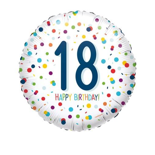 18. narozeniny balónky konfety 43 cm