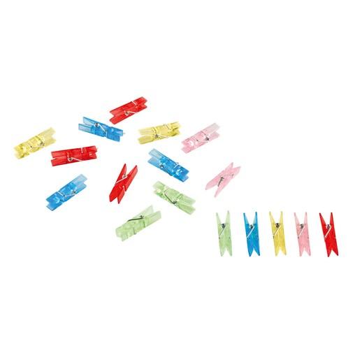 Kolíčky barevné průhledné 20 ks