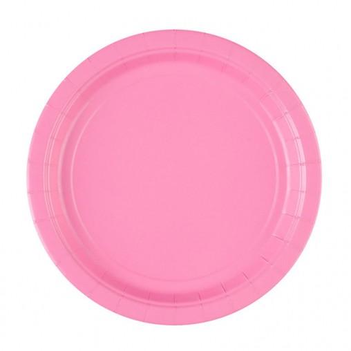 Talíře Pink 8ks 23cm