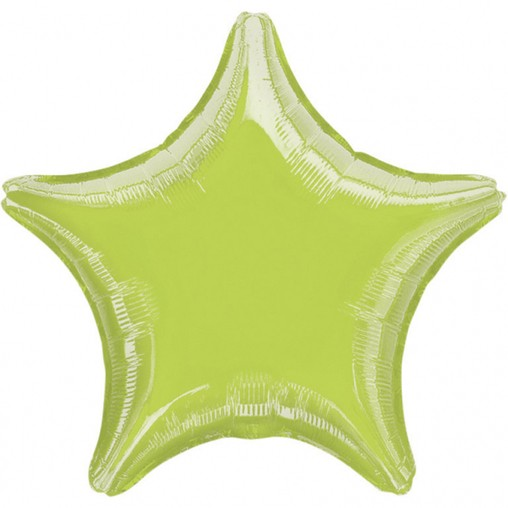 Balonek foliový hvězda Lime Green Metallic