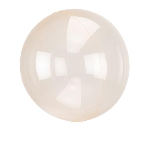 Průhledný balón světle oranžový 45 cm