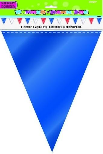 Vlajka modro-červeno-bílá 10m, 24ks vlajek