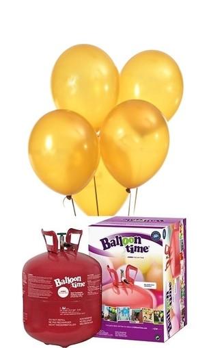 Helium Balloon time + balónky žluté 50ks