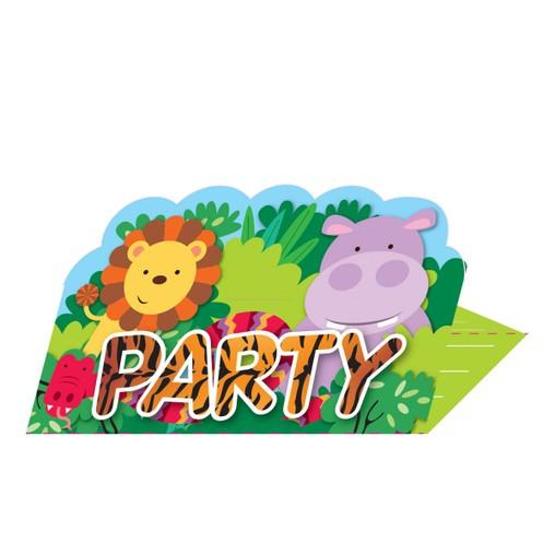 Safari pozvánky na party 8 ks