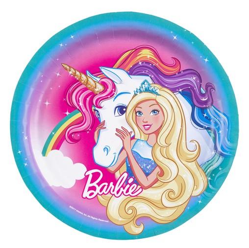 Barbie talíře 8 ks, 23 cm