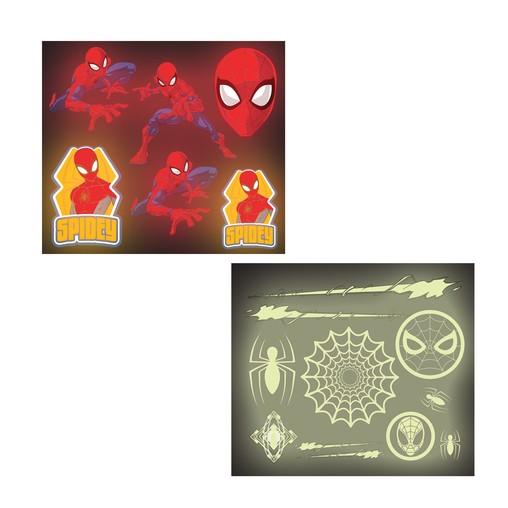 Spiderman samolepky svítící ve tmě 16 ks
