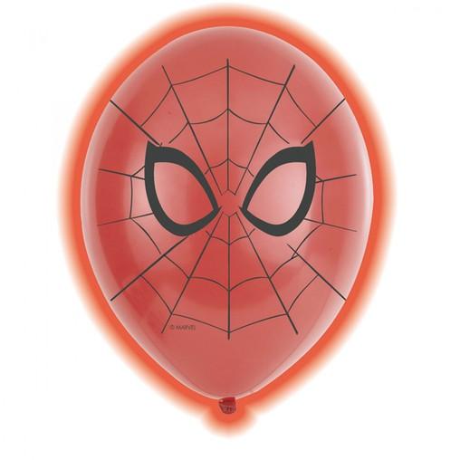 Spiderman LED balónky 5 ks 28 cm