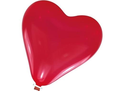 Balónek srdíčko velké s uzávěrem 50 cm