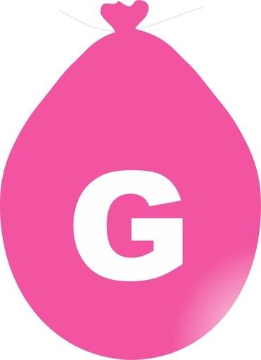 Balónek písmeno G růžové