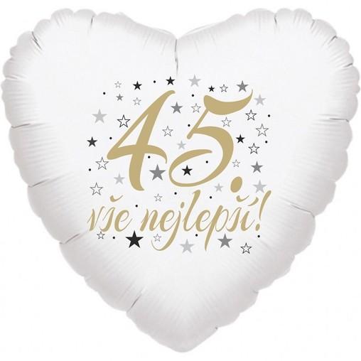 45. narozeniny balónek srdce