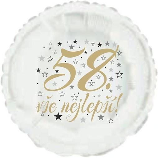 58. narozeniny balónek kruh
