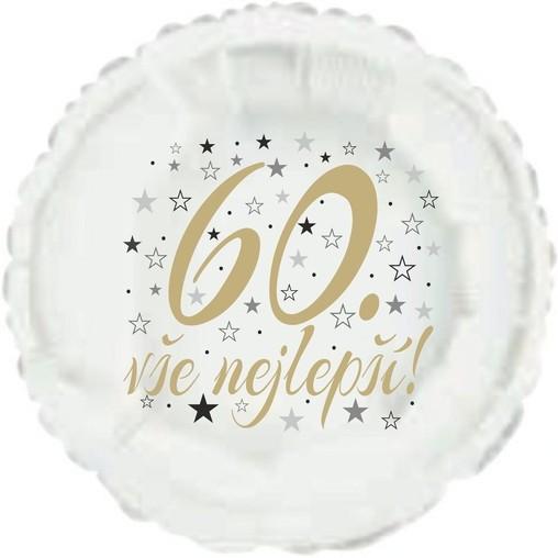 60. narozeniny balónek kruh