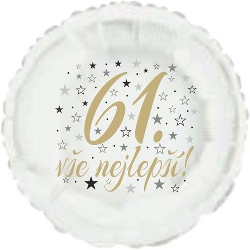61. narozeniny balónek kruh