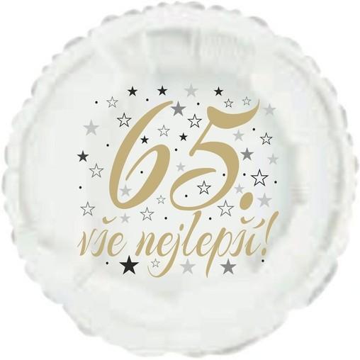 65. narozeniny balónek kruh