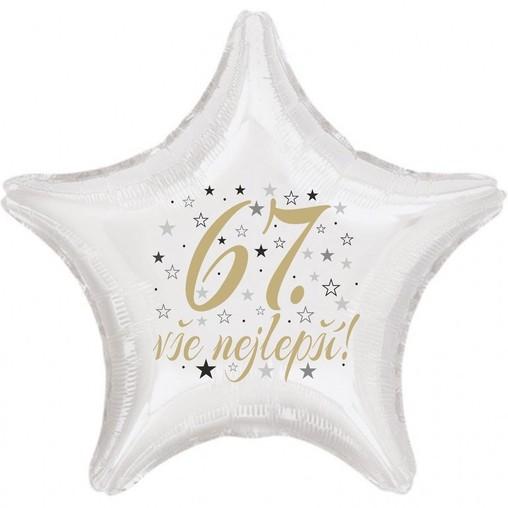 67. narozeniny balónek hvězda