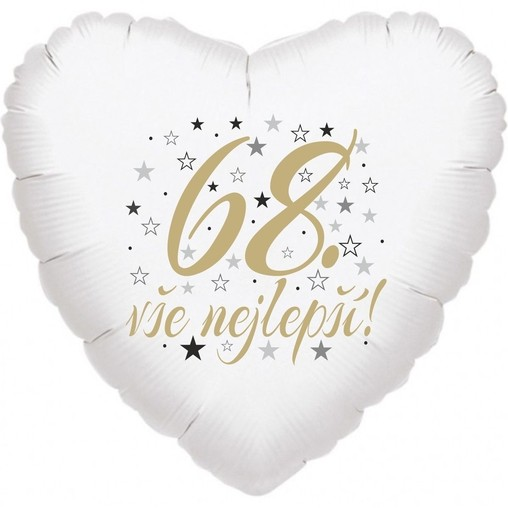 68. narozeniny balónek srdce