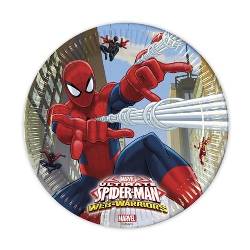 Spiderman talíře 8ks 23cm