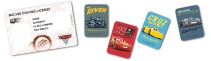 Cars kartičky licence 4 ks a samolepky 16 ks