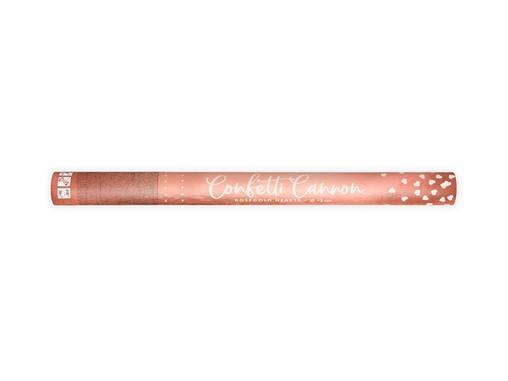 Vystřelovací konfety srdíčka růžovo-zlaté lesklé 60 cm