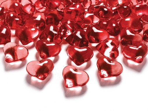 Srdíčka červené 2,1cm 30ks